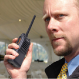 client working with his two-way radio