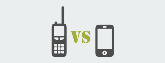 two-way radio versus a smart phone