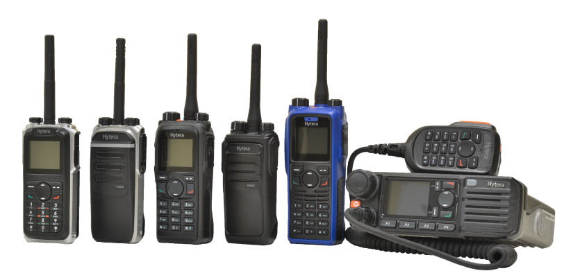 rental lineup of two-way radios available at pwc