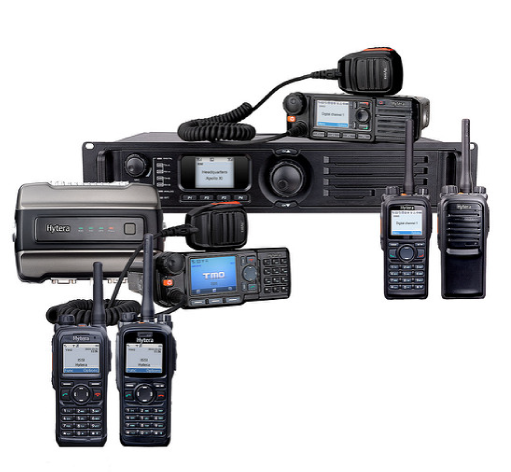 hytera product line-up of two-way radio systems