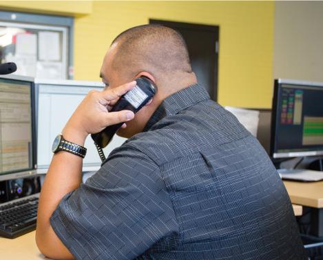 radio dispatch responder on the phone