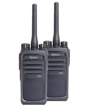 Two Free Hytera Digital Two Way Radios